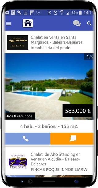 imagen de diseño aplicación casas en ocasion